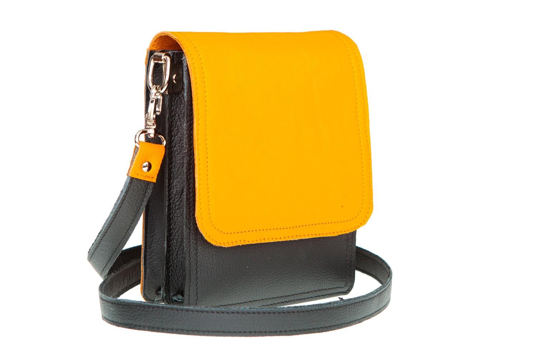 Beste Klein lederen zomertasje oranje model Mathilde - Kleine tasjes LB-46